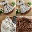 ชุดเดรสสั้น แฟชั่นเกาหลี ใส่ออกงาน สีขาวน้ำตาล ผ้าลูกไม้ แต่งกระโปรงผ้ามุ้งด้านใน สวยน่ารัก ๆ (พร้อมส่ง) thumbnail 5