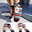 A014**พร้อมส่ง** (ปลีก+ส่ง)ถุงเท้าแฟชั่นเกาหลี ลายหัวเห็ด พับข้อ มี 5 สี (ดำ ขาว แดง เทา ม่วง) เนื้อดี งานนำเข้า ( Made in Korea) thumbnail 1