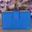 พร้อมส่ง AB-002-8 สีน้ำเงิน กระเป๋าสตางค์ไซร์กลาง หนัง PU นิ่ม แต่งอะไหล่เรียบหรู สไตล์ charles&keith thumbnail 1