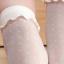 ถุงเท้าลูกไม้ เนื้อซีทรู ลายจุดแสนหวาน สีขาว thumbnail 4