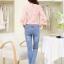เสื้อผ้าคอตตอนผสม เนื้อนุ่มมาก สีชมพู ตัวเนื้อผ้าเป็นลายดอกไม้ แขนยาวสี่ส่วน thumbnail 5