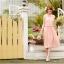 ชุดเดรส Brand YOCO นำเข้าของแท้ 100% ชุดเดรสผ้าชีฟอง+ลูกไม้อย่างดี สีชมพูหวานๆ น่ารักมากๆ (พร้อมส่ง) thumbnail 3