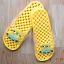 K011-DYL **พร้อมส่ง** (ปลีก+ส่ง) รองเท้านวดสปา เพื่อสุขภาพ ปุ่มเล็ก ลายมินเนี่ยน สีเหลือง thumbnail 4