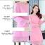 ชุดเดรสสวยๆ ผ้าคอตตอนผสมเนื้อนิ่มมาก สีชมพูเข้ม thumbnail 8