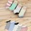 S349 **พร้อมส่ง** (ปลีก+ส่ง) ถุงเท้าแฟชั่นเกาหลี ข้อสั้น คละ 5 สี มี 12 คู่/แพ็ค เนื้อดี งานนำเข้า(Made in China) thumbnail 3