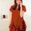 เสื้อยืดแฟชั่นตัวยาว (ผ้าเนื้อนุ่ม) ลาย จิงโจ้ สีส้ม thumbnail 1