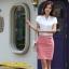 เสื้อทำงาน แฟชั่นเกาหลี สีขาว คอวีประดับมุดเงิน แขนระบาย กระดุมผ่าหน้า เสื้อผ้าสาวทำงาน ราคาถูก สวยมากๆครับ (พร้อมส่ง) thumbnail 4