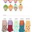 S350 **พร้อมส่ง** (ปลีก+ส่ง) ถุงเท้าแฟชั่นเกาหลี ข้อสั้น คละ 4 ลาย 4 สี มี 12 คู่/แพ็ค เนื้อดี งานนำเข้า(Made in China) thumbnail 5