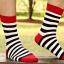 ถุงเท้าแฟร์ชั่นลายขวาง thumbnail 3