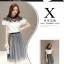 แฟชั่นเกาหลี set เสื้อและกระโปรง สวยน่ารักมากๆ thumbnail 7