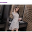 ชุดเดรสสวยๆ ตัวชุดผ้าโปร่งเนื้อละเอียด ตัวผ้าเดินเส้นผ้าริบบิ้นสีขาวโค้งหยักตามแบบ thumbnail 8