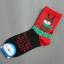 ถุงเท้าน่ารักลายลุงแซนต้า-ขอบเขียว thumbnail 3