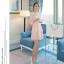 ชุดเดรสสวยๆ ผ้าไหมแก้ว organza ปักด้วยด้ายลายดอกไม้ สีชมพู สวยมากๆ thumbnail 3