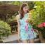 ชุดว่ายน้ำวันพีช โทนสีฟ้า ลายดอกไม้สวยสดใส หวานปนเซ็กซี่ thumbnail 1