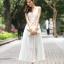 ชุดราตรียาว Brand Mei Na ชุดเดรสยาวแขนกุด ตัวเสื้อผ้าโปร่งสีน้ำตาล แต่งด้วยดิ้นสีขาว ตัวกระโปรงผ้าชีฟองสีขาว สวยมากๆครับ (พร้อมส่ง) thumbnail 4