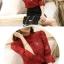 เสื้อผ้าลูกไม้ถัก สีแดง กระดุมผ้าหน้าตลอดตัว ชายปล่อย แขนยาวสามส่วน thumbnail 11