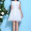 ชุดเดรสออกงาน ชุดเดรสผ้าไหมแก้ว สีขาว ปักลายดอกไม้สีน้ำเงิน สวยมากมายครับ แขนกุด ซับในด้วยผ้าซาตินสีขาว thumbnail 9