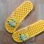 K011-DYL **พร้อมส่ง** (ปลีก+ส่ง) รองเท้านวดสปา เพื่อสุขภาพ ปุ่มเล็ก ลายมินเนี่ยน สีเหลือง thumbnail 3
