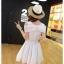 ชุดเดรสน่ารัก ผ้าชีฟองชนิดเนื้อทราย สีขาว thumbnail 5