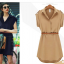 [พร้อมส่ง]สไตล์ยุโรป 2014 แฟร์ชั่นฤดูร้อนใหม่เสื้อผู้หญิงขนาดใหญ่ในชุดชีฟองยุโรปและอเมริกา แขนสั้นพร้อมเข็มขัด thumbnail 7