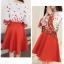 เสื้อผ้าแฟชั่นเกาหลี set 2 ชิ้น เสื้อและกระโปรงสวยมากๆ thumbnail 6