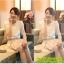 เสื้อแฟชั่น Hongkong ผ้าลูกไม้ สีขาว แขนสั้น แต่งระบายลูกไม้ที่หน้าอก แต่งมุกคอวี มีซับในสวยเหมือนแบบครับ สินค้าเกรด A พร้อมส่ง thumbnail 8