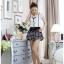 เสื้อผ้าแฟชั่น set 2 ชิ้น เสื้อ+กางเกง และเข็มกลัดดอกไม้ แฟชั่นเกาหลีสวยๆ ครับ thumbnail 5