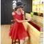 ชุดเดรสสั้น ผ้าชีฟอง ชนิดเนื้อทราย สีแดง thumbnail 4