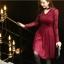 ชุดเดรสสีแดง ผ้าลูกไม้เนื้อนิ่มมากๆ แขนยาว ที่คอเสื้อ แต่งด้วยผ้าแยกออกมา thumbnail 4