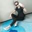 แฟชั่นเกาหลี set เสื้อ และกางเกงสีดำ ใส่ทำงานสวยเก๋ครับ thumbnail 2