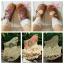 [พิเศษ 2 คู่ 150 บาท]ถุงเท้าลูกไม้ลายวินเทจ-ดอกไม้สีหวาน thumbnail 5