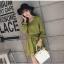 ชุดเดรสแฟชั่น ผ้าโพลีเอสเตอร์ สีเขียว (เนื้อผ้าคล้ายชีฟอง แต่หนากว่าชีฟอง) thumbnail 3