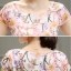 ชุดเดรสชีฟอง ผ้าเนื้อดี มีลายเส้นในตัว พื้นสีขาว พิมพ์ลายดอกไม้โทนสีชมพู thumbnail 6