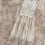 ชุดราตรียาว ผ้าลูกไม้เนื้อดี สวยสุดหรูสีครีมเข้ม แขนกุด thumbnail 11