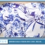 ชุดเดรสผ้าไหม silk เนื้อนุ่มลื่น พื้นสีขาว พิมพ์ลายดอกไม้สีน้ำเงิน thumbnail 8