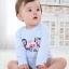 เสื้อผ้าเด็กทารก 0-6 เดือน ราคาส่งจากโรงงาน ใช้ได้ทั้งเด็กหญิงเด็กชาย ชุดนอน แขนยาวขาสั้น รหัส D191 สีฟ้า 1 ชุด ลายSport star ไซร์ 6 M (ส่วนสูง 65 cm ) thumbnail 1
