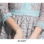 ชุดเดรสสวยๆ ตัวเสื้อผ้าลูกไม้ลายดอกไม้สีฟ้า ตัวลายเส้นขอบดอกไม้ และเส้นที่เชื่อมต่อ thumbnail 9