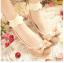 ถุงเท้าลูกไม้ เนื้อซีทรู ลายจุดแสนหวาน สีขาว thumbnail 1