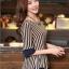 เสื้อทำงาน แฟชั่นเกาหลี เสื้อชีฟองแฟชั่น ลายตรง สีกรมท่า+น้ำตาลอ่อน ใส่เป็นชุดทำงาน สวยมากๆครับ (พร้อมส่ง) thumbnail 3
