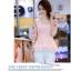 เสื้อแฟชั่นเกาหลี เสื้อผ้าชีฟองสีชมพู แขนเสื้อผ้าชีฟองลายดอกไม้ โทนสีแดง มาพร้อมเข็มกลัดสร้อยคอมุกสีขาว thumbnail 7