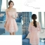ชุดเดรสสวยๆ ผ้าไหมแก้ว organza ปักด้วยด้ายลายดอกไม้ สีชมพู สวยมากๆ thumbnail 5
