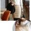 เสื้อลูกไม้ แฟชั่นเกาหลี ชนิดเนื้อนิ่ม สีขาว แขนยาว คอเต่า แต่งคอเสื้อด้วยคริสตรัลใส thumbnail 6