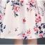 ชุดเดรสสวยๆ ผ้าซาติน สีครีม เนื้อเงาสวย พิมพ์ลายดอกไม้ โทนสีแดง thumbnail 14