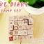 ชุดตัวปั้ม LOVE DIARY STAMP SET