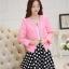 แฟชั่นเกาหลี set เสื้อสูท สีชมพู และกระโปรง สวยมากๆ thumbnail 2