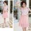 ชุดเดรสสวยๆ ตัวเสื้อผ้าลูกไม้ ปักสีชมพู พิมพ์ลายดอกกุหลาบ thumbnail 6