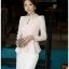 เสื้อทำงาน SL Style เสื้อแขนยาว ผ้าชีฟอง สีชมพูโอรส คอเสื้อประดับด้วยคริสตรัลใส และมุกสีขาว พร้อมเข็มขัด (พร้อมส่ง) thumbnail 2