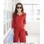 เสื้อผ้าแฟชั่น set 2 ชิ้น เสื้อ และกางเกง สีแดงเลือดหมู thumbnail 1