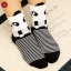 S027**พร้อมส่ง** (ปลีก+ส่ง)ถุงเท้าแฟชั่นเกาหลี ลายหมี ข้อสูง มีหู มี 5 สี (ดำ น้ำเงิน แดง เหลือง ม่วง)เนื้อดี งานนำเข้า ( Made in China) thumbnail 6