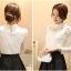 เสื้อผ้าลูกไม้ สีขาว แขนยาว สวยมากๆ ช่วงไหล่เป็นผ้ามุ้งซีทรู thumbnail 17